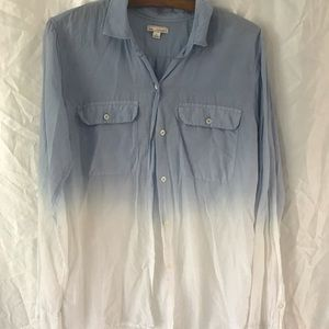Gap dip dyed ombre button down M